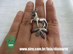 Anel Alce Prateado Envelhecido  www.airu.com.br/loja/dixiearte