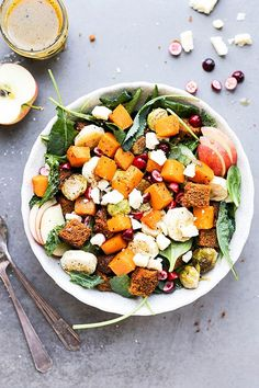 Could You Eat Pizza With Sort Two Diabetic Issues? Autumn Harvest Panzanella Salad With Pumpkin Bread Pinned To Nutrition Stripped Salad Vegetarian Salad Recipes, Chicken Salad Recipes, Healthy Recipes, Savoury Recipes, Vegetable Recipes, Fall Recipes, Real Food Recipes, Dinner Recipes, Pumpkin Recipes