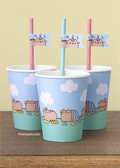 Pusheen Birthday, Hello Kitty Birthday, Cat Birthday, Birthday Ideas, Kylie Birthday, 6th Birthday Parties, Pusheen Cakes, Pusheen Love, Baby Pony