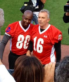 Farewell to Candlestick Park - Legends of Candlestick flag football game July 12, 2014. - Jerry Rice and Joe Montana