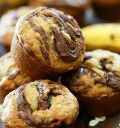 Nutella oatmeal muffins!