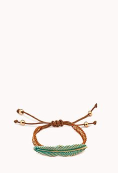 Eclectic Feather Rope Bracelet | FOREVER21