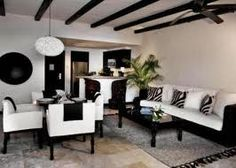 love the black and white furniture