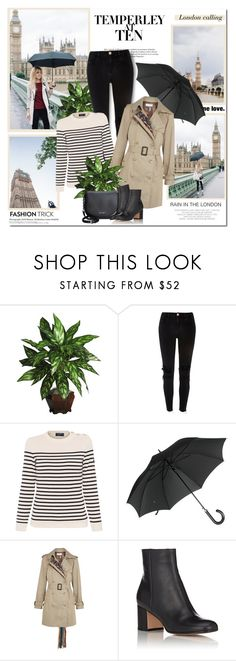 """""""London rain!!"""" by lilly-2711 ❤ liked on Polyvore featuring Temperley London, River Island, Saint James, Gucci, Facetasm, Hedi Slimane and Gianvito Rossi"""