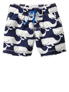 Whale swim trunks Product Image