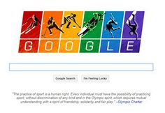 Thank you Google, for saying what the majority of us feel.  Celebrate sport, celebrate PRIDE, celebrate life.
