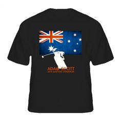 Adam Scott Masters Champion Australia Golf T Shirt