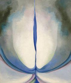 Georgia O'Keeffe - Blue Line, 1919, oil on canvas.