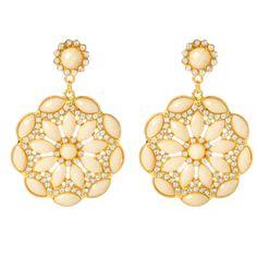 Amrita Singh Eastern Peony Earrings ($100) ❤ liked on Polyvore