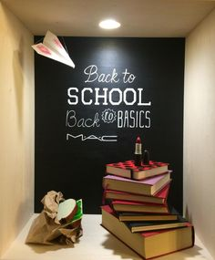 """""""Back to School,Back to Basics"""" for MAC,design by Group C students of Ártidi Escuela Superior, Barcelona, Spain, pinned by Ton van der Veer"""