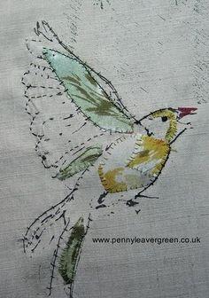 New Bird Embroidery Designs Mixed Media Ideas Bird Embroidery, Embroidery Stitches, Embroidery Designs, Embroidered Bird, Abstract Embroidery, Thread Painting, Thread Art, Art Du Fil, Bordados E Cia