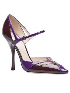 BOTTEGA VENETA - Sapato roxo. 5