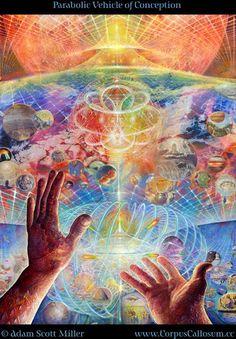 Adam Scott Miller - Parabolic Vehicle of Conception #psychedelicart