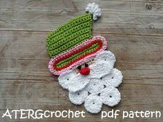 Crochet pattern Santa Claus by ATERGcrochet by ATERGcrochet
