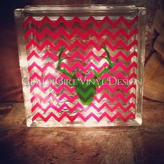 Personalized Glass Block CHRISTMAS Reindeer by GeauxGirlDesign
