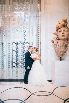 Stealing a kiss in the Waldorf Astoria Chicago lobby!