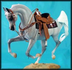 Custom Western Model Horse Tack- BEAUTIFUL. I want to make it so bad