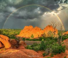 Beautiful full rainbow at Garden of the Gods. 7-3-15  Forrest Boutin Photography.