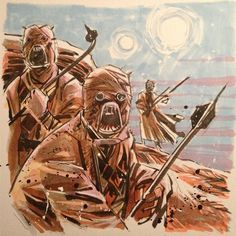 Tusken Raiders by Mike Henderson