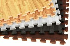 "5/8"" Soft Wood Tiles - soft tiles that look like wood! Cheap, easy to install, and ships next business day!"