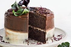 Ombre, it's back and not just for the fash pack. A thin layer of ganache fading into orange ricotta cream gives this cake seriously good looks.