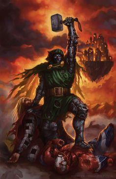 dr doom | Dr Doom & Loki VS Justice League - Battles - Comic Vine