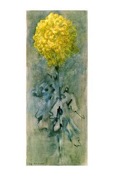 Piet Mondrian Art - Chrysanthemum A