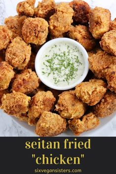 "VEGAN Seitan Fried ""Chicken"" - This recipe is for vegans and meat-eaters alike. Generally, people like fried chicken because it's - Chicken Seitan Recipe, Vegan Seitan Recipe, Vegan Fried Chicken, Seitan Recipes, Roast Chicken And Gravy, Roasted Chicken, Vegan Recipes Plant Based, Vegan Dinner Recipes, Delicious Vegan Recipes"