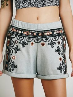 Free People FP One Geneva Embroidered Short, €43.67