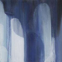 Indigo Blues IV by Tricia Strickfaden - Original abstract was mixed media Original Paintings, Original Art, Wall Installation, Living Room Art, Indigo Blue, Wall Art Decor, Blues, Gallery Wall, Art Prints