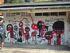 Street art in Pai, Northern Thailand
