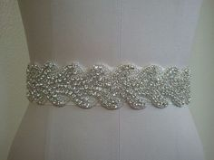 Wedding Belt, Bridal Belt, Sash Belt, Crystal Rhinestone - Style B20018 on Etsy, $68.00