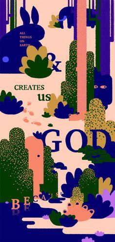 © Joro Chen   »Praise God«   TDC Gewinner   Mehr prämiertes Grafikdesign: http://page-online.de/typografie/best-of-grafikdesign-und-typografie-die-gewinner-des-tdc-2017-teil-4/