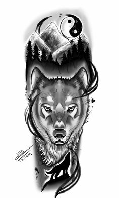 Cool Arm Tattoos, Best Sleeve Tattoos, Dope Tattoos, Tattoo Sleeve Designs, Tattoo Designs Men, Black Tattoos, Body Art Tattoos, Tattos, Wolf Sleeve