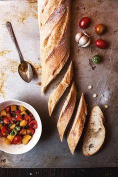 Bread an Bruschetta. Ca never get enough bruschetta.
