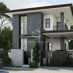Dammam: A Minimalist House Design - - storey tiny house design Design Exterior modern philippines Zen House Design, Modern Bungalow House Design, Two Story House Design, 2 Storey House Design, Duplex House Design, Design Living Room, Minimalist House Design, Design Bedroom, Container Home Designs
