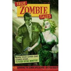(12x18) Zombie Tales Pulp by Retro-A-Go-Go Indoor/Outdoor Plastic Sign @ niftywarehouse.com #NiftyWarehouse #Zombie #Horror #Zombies #Halloween