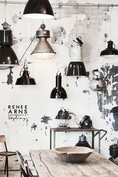 Industrial decor style is perfect for any space. An industrial style is always a good idea. See more excellent decor tips here:http://www.pinterest.com/vintageinstyle/