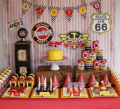 Kara's Party Ideas Vintage Rustic Race Car McQueen Cars Boy Party Planning Ideas