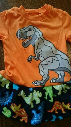 Hey, I found this really awesome Etsy listing at https://www.etsy.com/listing/260173845/orange-toddler-girls-dinosaur-t-rex