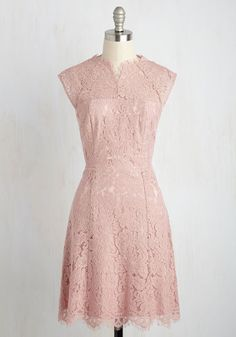 Whether major or minor, each accomplishment in your life deserves to be revered in this pink dress. So, raise your glass to the illusion neckline, raw edges, and floral lace of this ModCloth-exclusive sheath for beautifully bedecking you on this and every occasion for which it's worn!