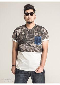 Homens 2015 marca de moda camisa de manga curta camisa XXXXXXL gordura cenário grande homens de luxo plus size em Camisetas de Roupas e Acessórios - Masculino no AliExpress.com | Alibaba Group
