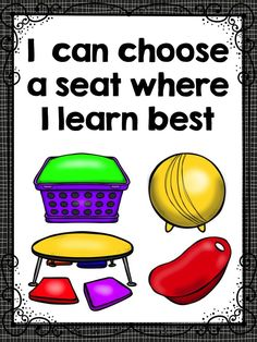Flexible Seating -Visual Reminder Posters. You can display these or use the posters to introduce flexible seating rules in your class.