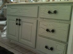 Crackle Painting-How to Crackle Paint in Four Steps   Bathroom ideas ...