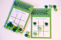 Printable St. Patrick's Day Cards for kids, Personalized St. Patrick's Day Gift, INSTANT DOWNLOAD, St. Patrick's Day Game, Tic Tac Toe