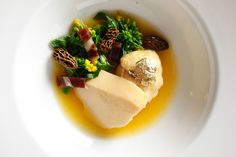 Golden Broth with Scallop Mousse.