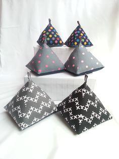 Pyramid Doorstops Craft Stalls, Door Stop, Handmade Accessories, Bikinis, Swimwear, Bows, Crafts, Fashion, Craft Booths