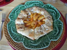 Peach and Almond Galette-What a wonderful treat for brunch! As pretty as it is, it's not at all difficult to put together.