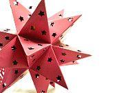 christmas tree topper, star, pink, christmas decor, bright christmas, upcycled, xmas, ornaments, lights, lighted star