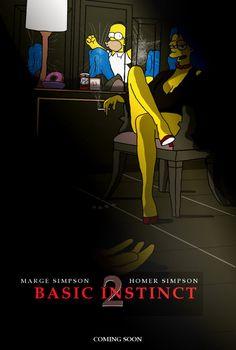50 pósters de series y películas con personajes de Los Simpson.